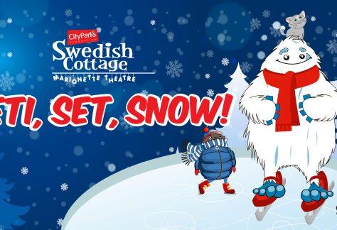 Yeti Set Snow at the Swedish Marionette Theatre NYC