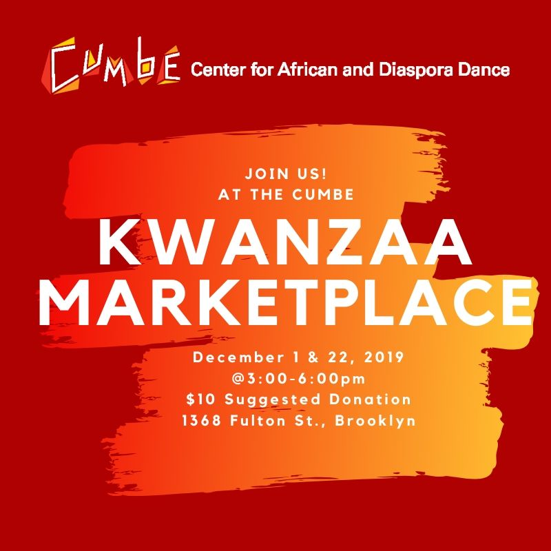 Cumbe: Center for African and Diaspora Dance Kwanzaa Marketplace