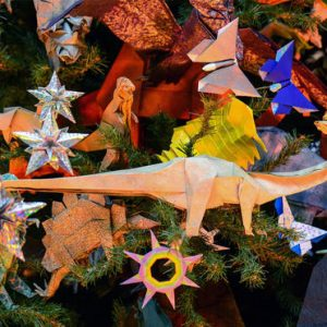 The Origami Holiday Tree at American Museum of Natural History NYC