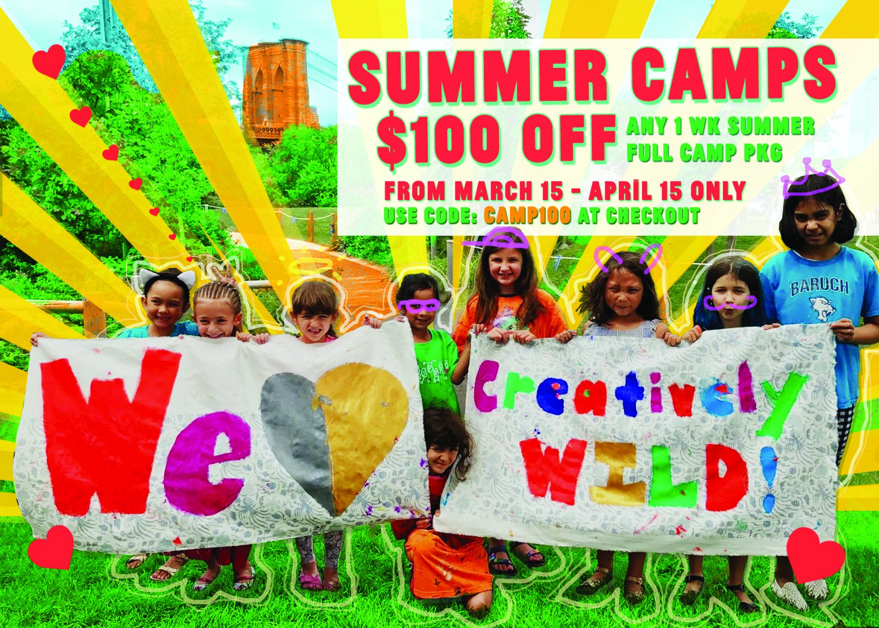 Dumbo's Creatively WILD Summer Camps EarlyBird $100 OFF Camp Full PKG - MAR 15-APRIL 15