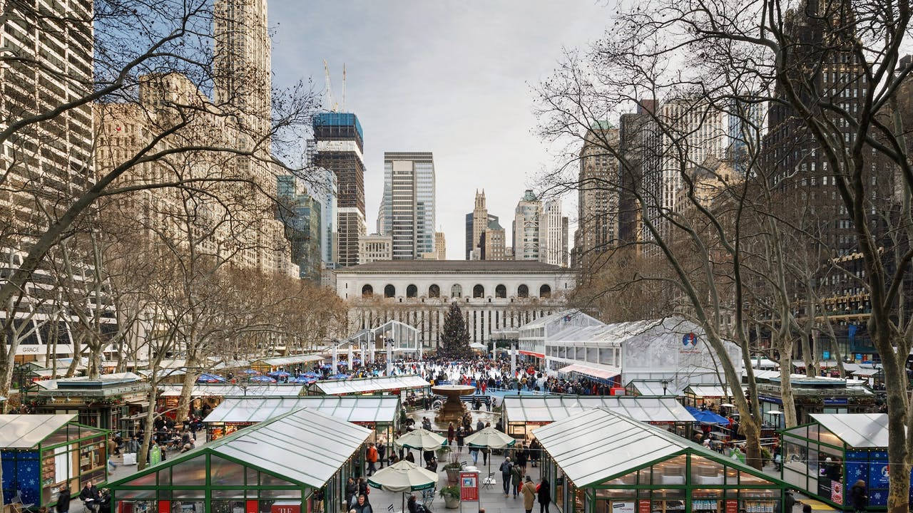 Bryant Park's Winter Village Opens This Week