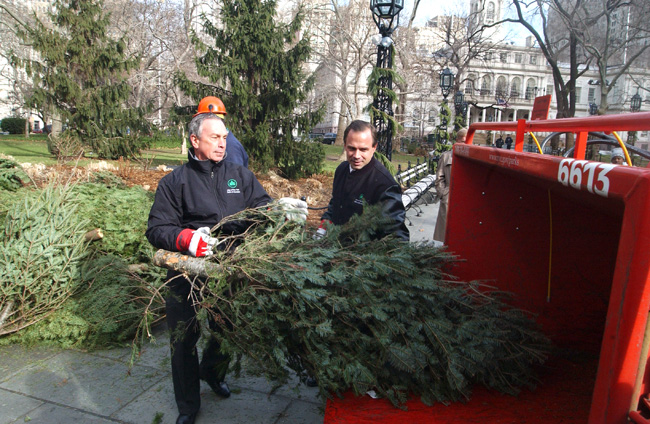 Mulchfest Say Fir-Well To Your Holiday Tree At NYC Parks!