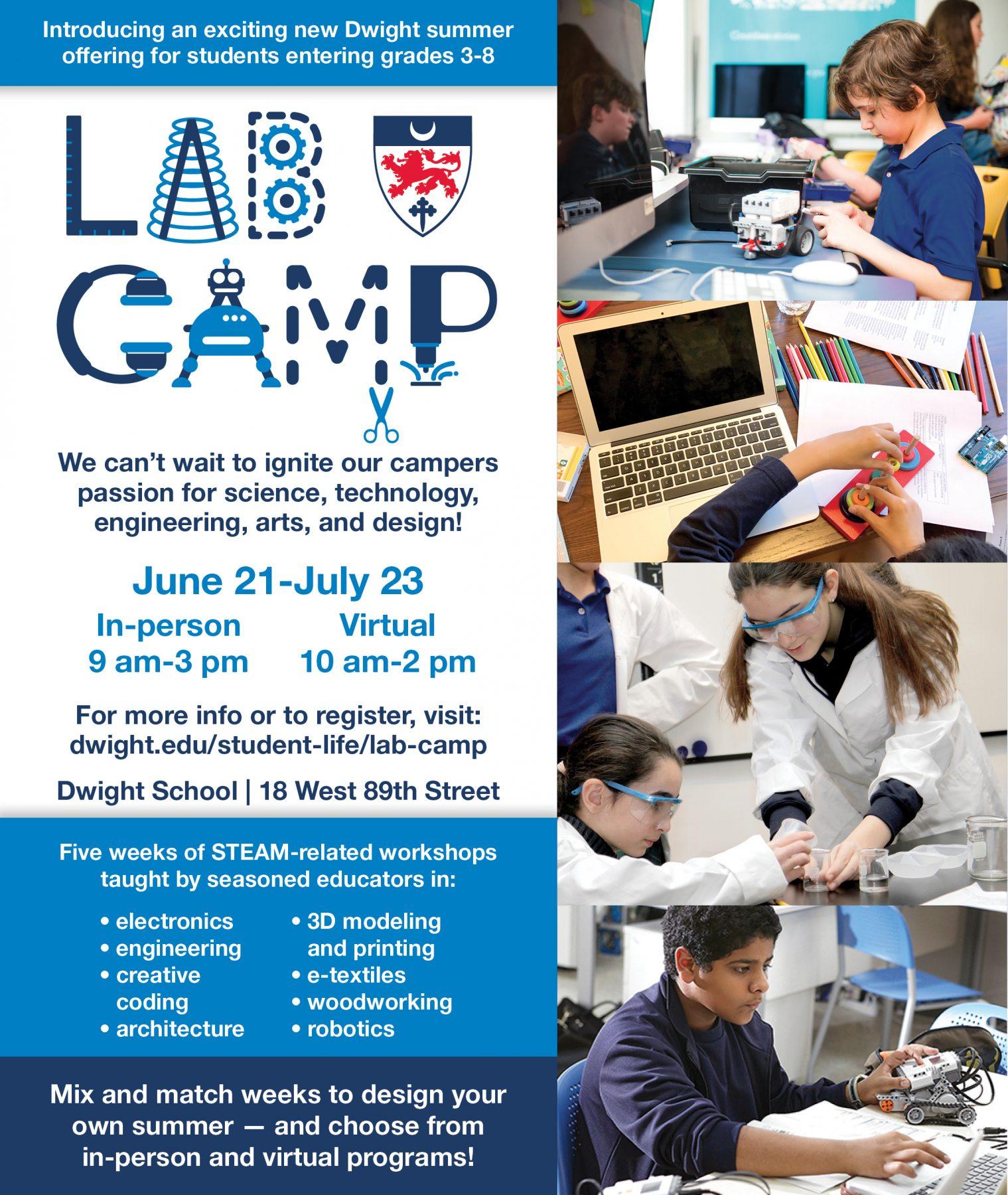 Dwight School Summer Camp Lab Camp