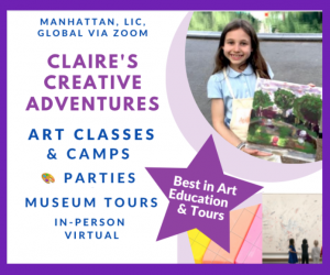 Claire's Creative Adventures Art camps classes and parties in NYC Manhattan