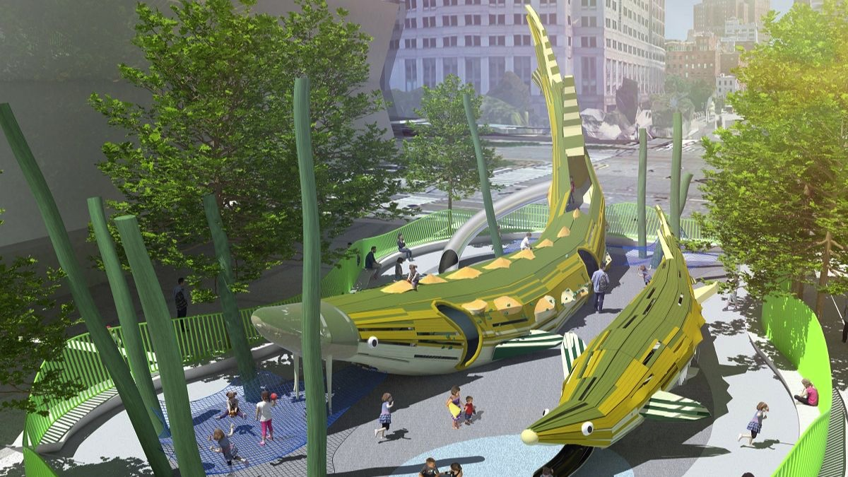 New Play Area at Hudson River park